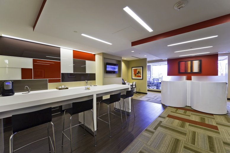 This is a photo of the office space available to rent on 1 Meadowlands Plaza, Suite 200