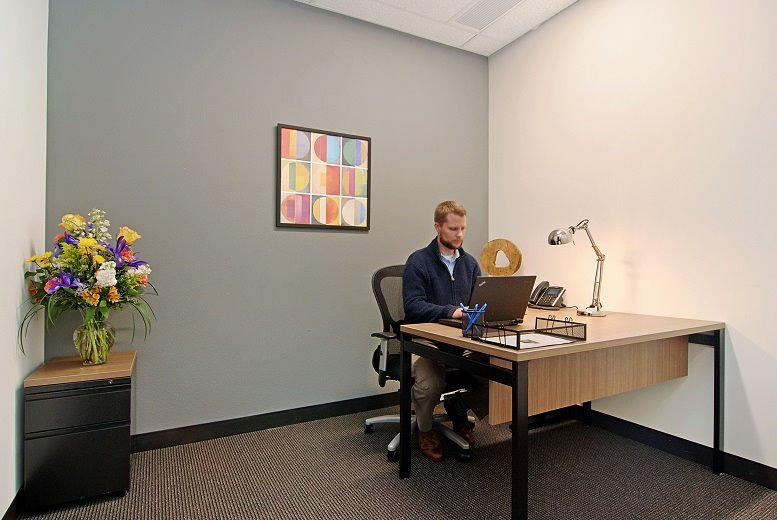 This is a photo of the office space available to rent on Plaza At The Round, 4145 S.W. Watson, Beaverton Round