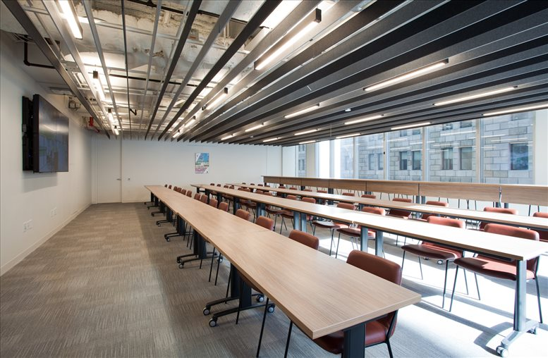 This is a photo of the office space available to rent on 28 Liberty St, Financial District, Downtown